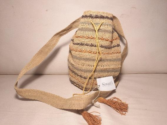 Cartera Crochet Rayada A4 Exclusiva