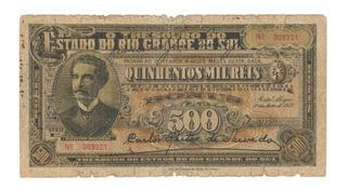 500 Mil Reis 1933 Rio Grande Do Sul Pinheiro Machado Cv011