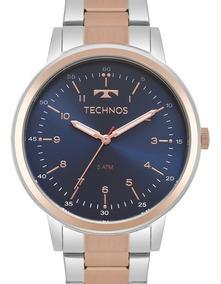 Relógio Technos Feminino Prata / Rose Gold - 2035mpq/5a