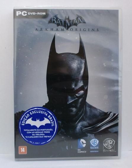 Batman Arkham Origins Jogo Pc Original Mídia Física Novo