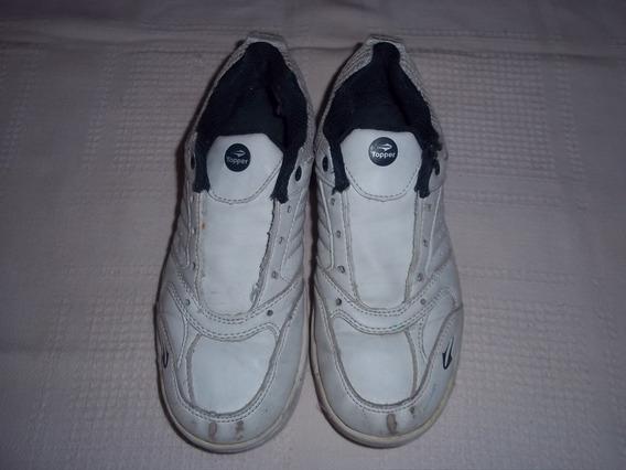 Zapatillas Blancas Topper 32 Cuero