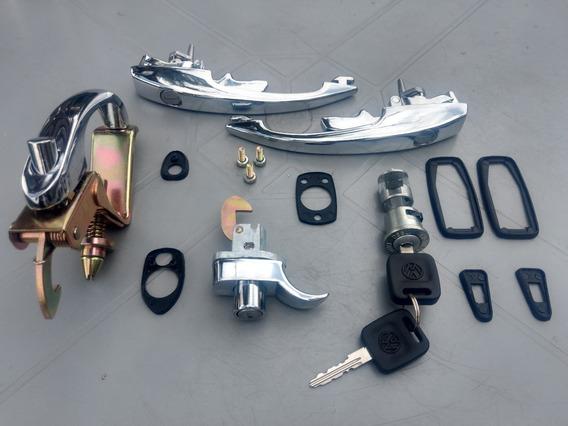 Kit Maçanetas/cilindros Fusca 78 A 96 (mesma Chave)