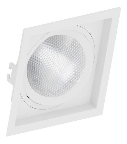 Embutido Par30 Quadrado Recuado Branco Ou Preto Save Energy