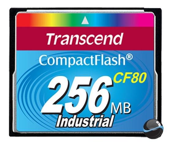 Compact Flash Cf Transcend Industrial 256mb 80x Ts256mcf80