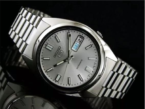 Relógio Seiko 5 Snxs73 Automático - Todo Em Aço 38 Mm 7s26