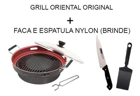 Grill Oriental Original Churrasqueira Para Fogão + Brindes