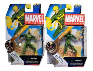 Iron Fist Dragon Negro Y Amarillo Serie 1 17 Marvel Universe