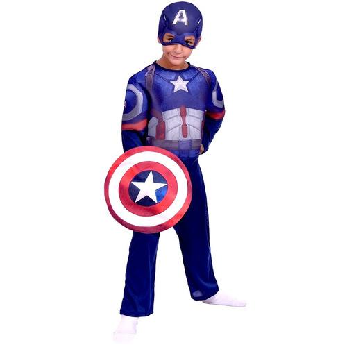 Disfraz De Capitan America Con Luz Avengers Marvel New Toys