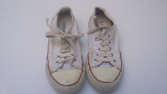 Zapatillas Converse All Star Bajas Clasicas Blanca 11us 28ar