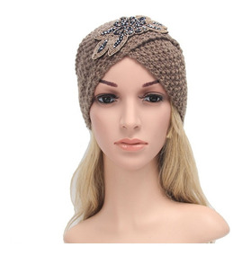 Turbante Aplic Playa Elegante Moda Quimio Cancer Alopecia