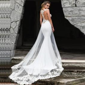 d0d3d057a Vestido Sereia De Noiva Marfim - Calçados, Roupas e Bolsas no ...