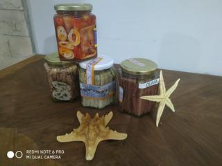 Anchoas En Aceite, Boquerones Y Calamares Por 360grs