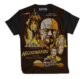 Camisa Camiseta Breaking Bad Series Heisenberg Netflix