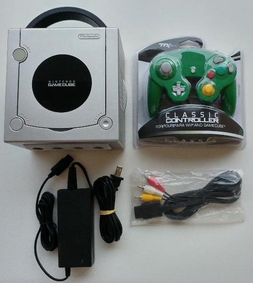 Game Cube + Zelda Wind Waker + Cabos + Controle!! Garantia!!