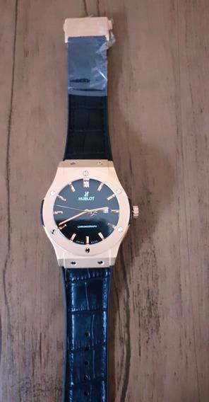 Relógio Masculino Huublot +caixinha De Brinde