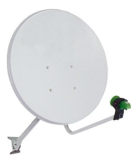 Kit Antena 60cm Banda Ku + Lnbf Single + Kit Instalação