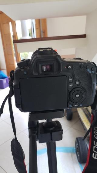 Câmera Fotográfica Canon 60d Lente 18 135 Mm + Baterry Grip