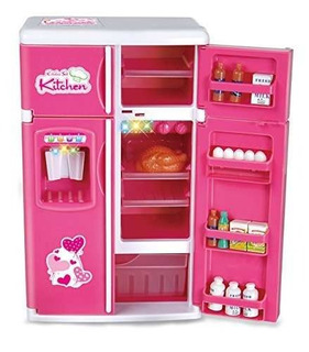 Soñar Con Cocina Refrigerador Mini Juguete Rosa Nevera
