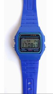 Reloj Digital Estilo Casio F-91w-1d Hombre Mujer Colores