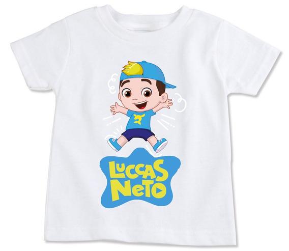 Camiseta Infantil Luccas Neto / Frete Grátis