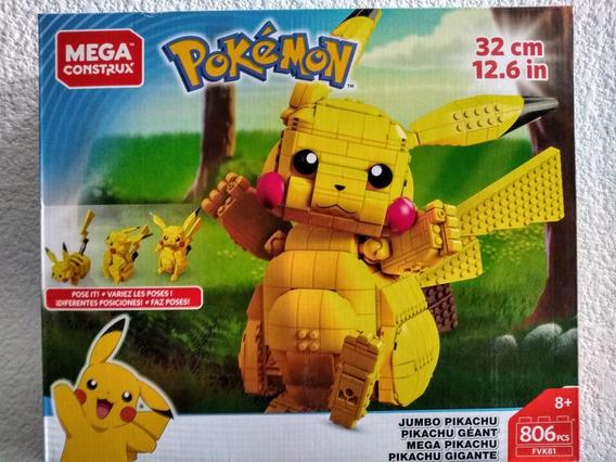 Pikachu Jumbo 32cm 806pzas Pokemon Mega Construx
