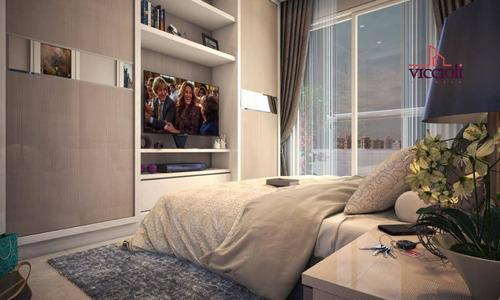 Apartamento Com 1 Dormitório À Venda, 42 M² Por R$ 209.700,00 - Canto Do Forte - Praia Grande/sp - Ap1037