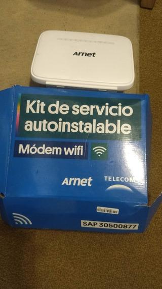 Modem Arnet Con Cable Y Adaptadores