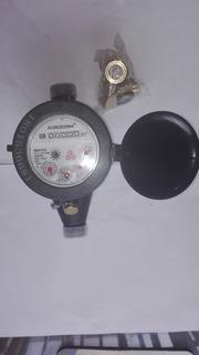 Medidor De Agua En Plastico De 1/2