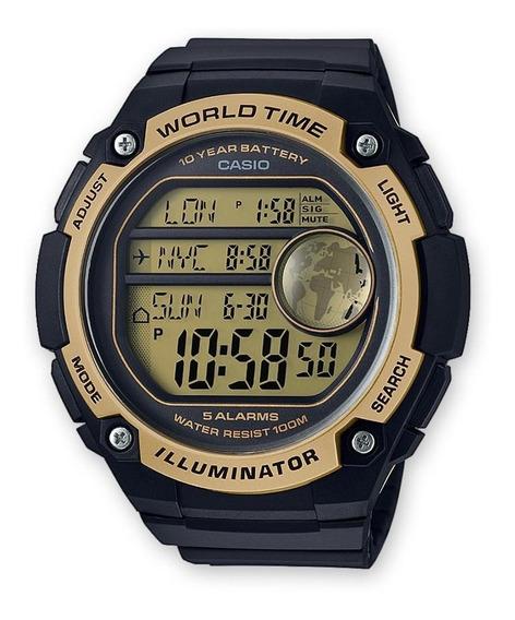 Reloj Casio Ae3000 Sport 100mts Alarmas Negro
