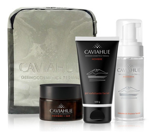 Kit Caviahue Cremas Faciales Hombre Con Neceser
