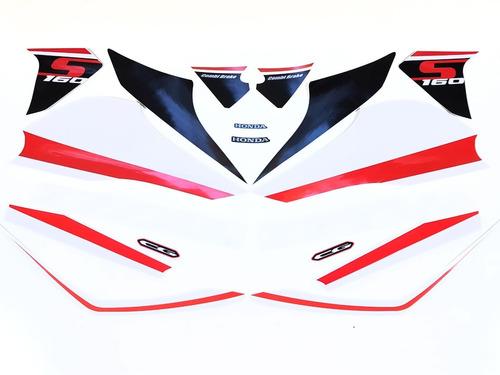 Imagem 1 de 7 de Kit De Adesivos Titan 160s 2020 Kit Faixas Titan 160s 2020