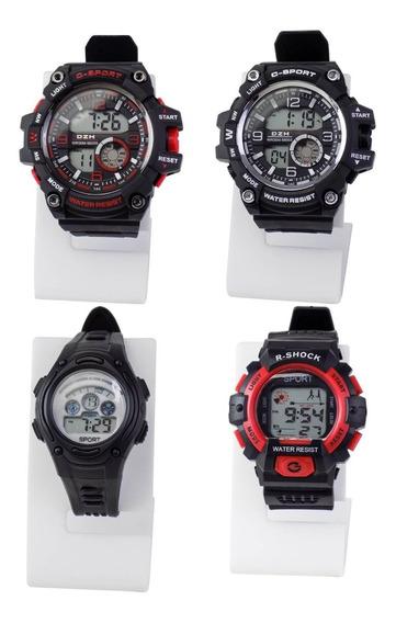 Kit 4 Relógio Masculino Infantil Digital Sport Prova D