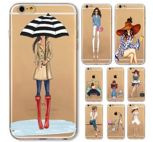 Forro iPhone 6 Plus Y 6s Plus  Transparente Goma Dura Extra