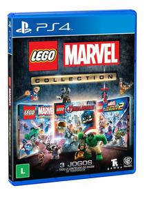 Lego Marvel Collection - Ps4 3 Jogos Em 1 Envio Imediato