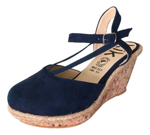 Zapato Plataforma Mujer Kik 802 Marino Moda Mujer Tacon Alto
