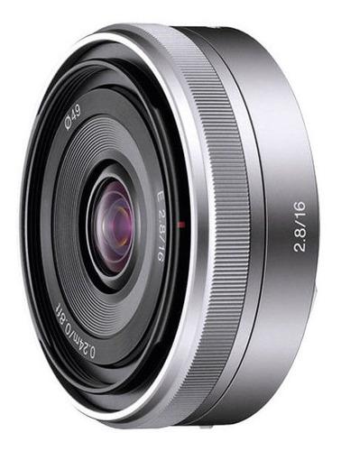 Lente Sony Prime Gran Angular E 16mm F2,8 | Sel-16f28