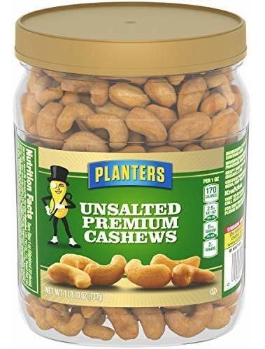Planters Unsalted Premium Cashews (1.63 Lb Jar)