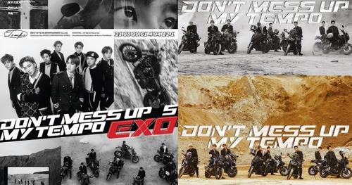 Imagen 1 de 4 de Set 3 Poster Exo Don't Stop My Tempo Originales En Tubo