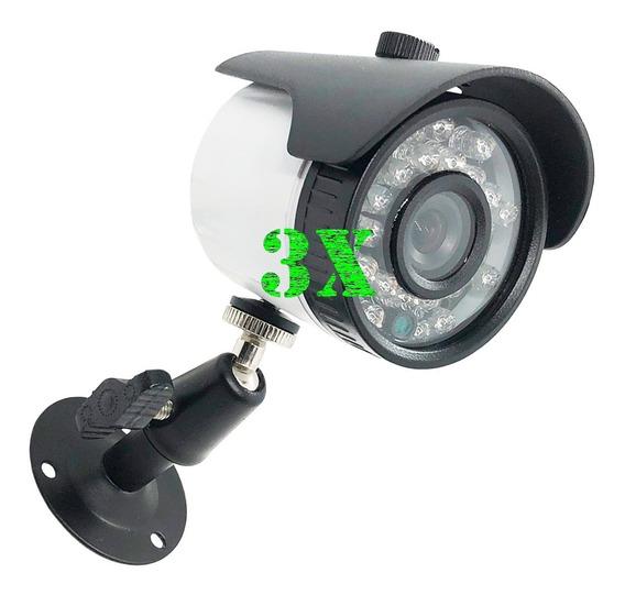 Kit C/ 3 Cameras Bullet Cftv Color 700 Linhas 3,6mm 20m