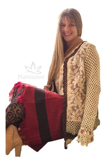 Saco Manawee Mujer Tejido Crochet