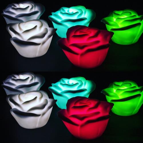 Vela Rosa Flotante  Led - Rosas Luces Flotantes