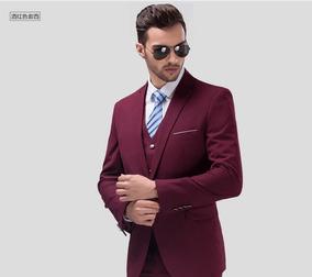 Terno Vinho Bordo Marsala Slim Masculino P/ Empresario