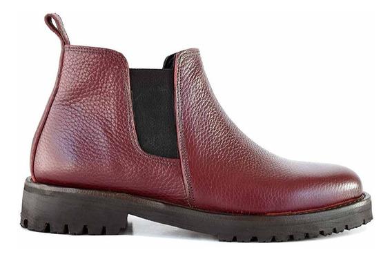 Botineta Cuero Mujer Briganti Bota Moda Zapato Mcbo24857 01