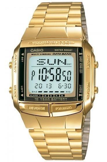 Relógio Casio Db-360g-9adf Digital Dourado - Refinado
