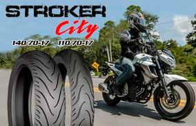 Par Pneu Technic Strocker City Fazer250 Cb300 Twister Ninja