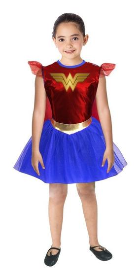 Disfraz Mujer Maravilla Wonder Woman Niña Warner Fantasy Ruz