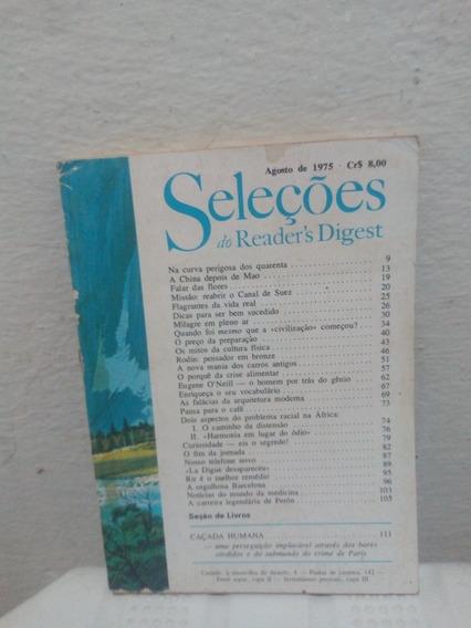 Revista Antiga Seleções Agosto De 1975