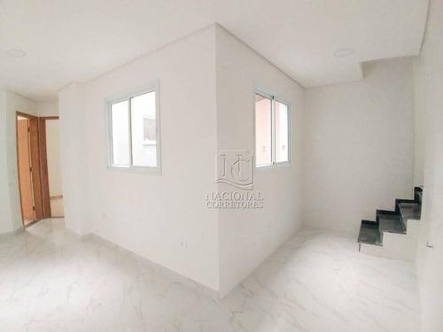 Imagem 1 de 21 de Cobertura Com 2 Dormitórios À Venda, 92 M² Por R$ 380.000,00 - Jardim Santo Alberto - Santo André/sp - Co5198