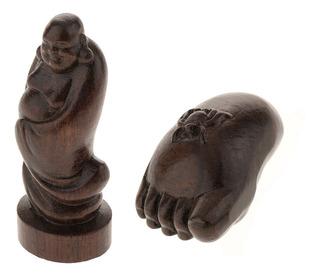 Decoración De Madera De La Escultura De La Estatua De Buda