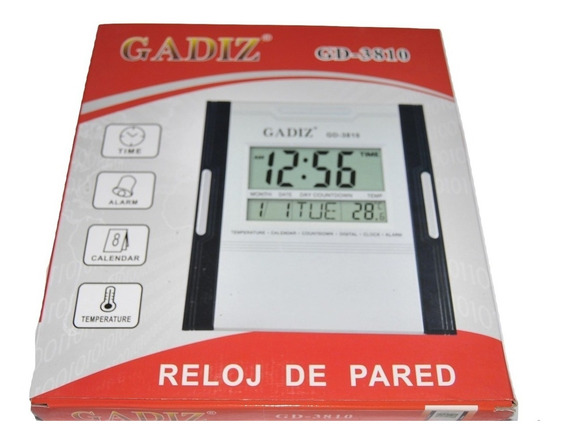 Reloj Digital De Pared/buro Con Alarma-fechador-temperatural